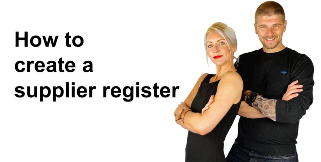 How To create a supplier register for ISO 27001