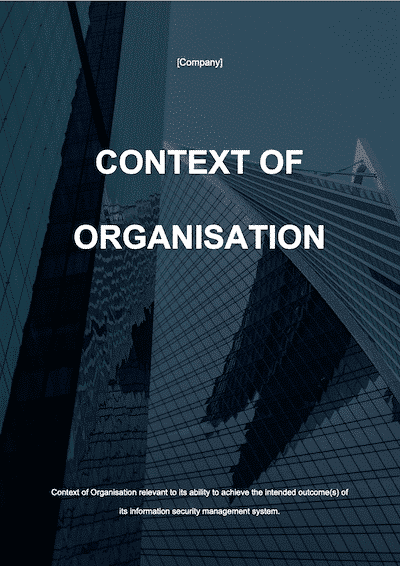 ISO 27001 Context of Organisation | ISO 27001 Documents templates
