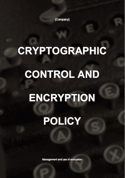 Cryptographic Control and Encryption Policy