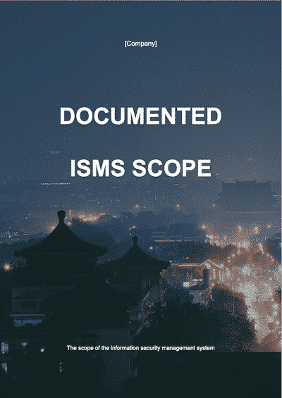 ISO 27001 Documented ISMS Scope | ISO 27001 Documents templates