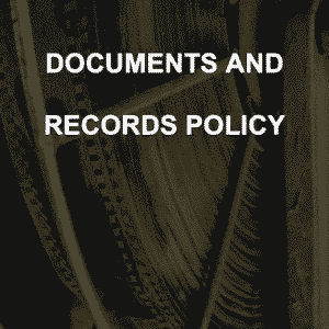 Documents and Records Policy