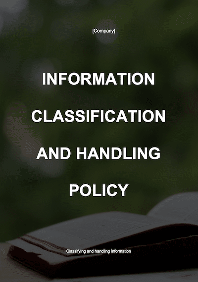 Information Classification and Handling Policy