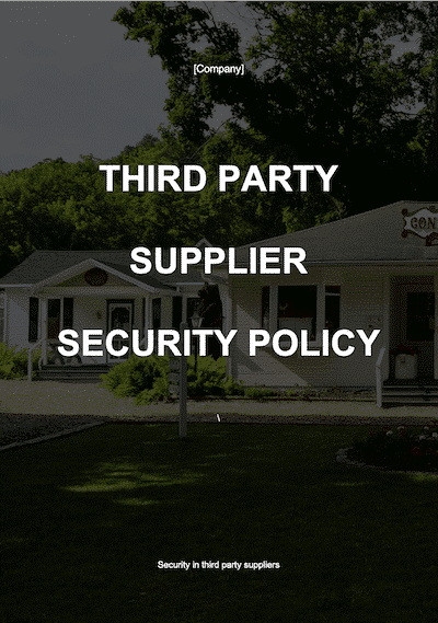 Third Party Supplier Policy