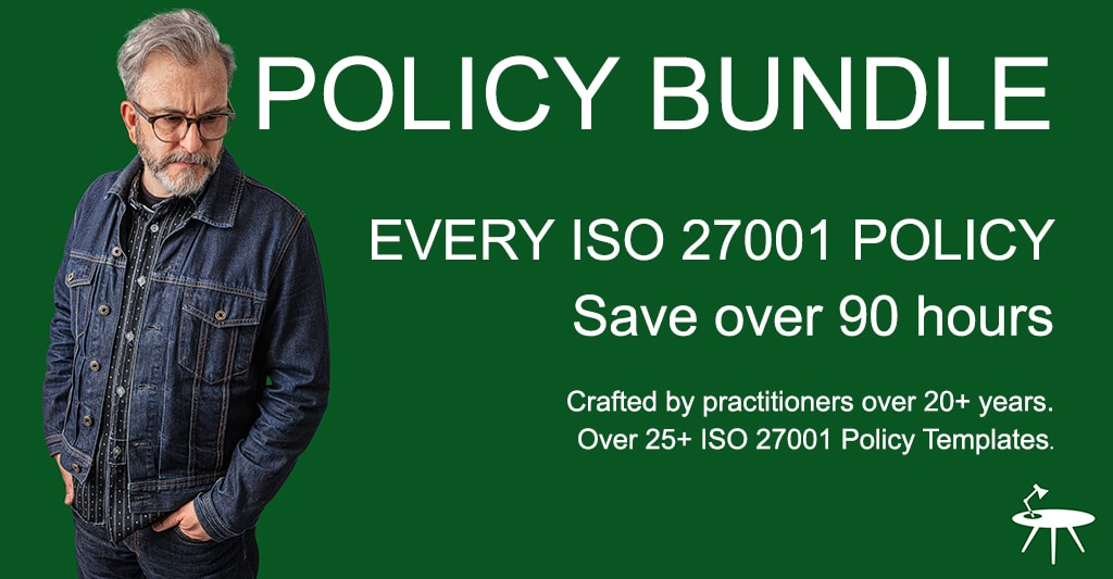 ISO 27001 Policy Bundle Product Banner