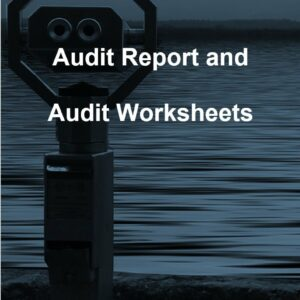 Audit Report and Audit Worksheet template for ISO 27001. An ISO 27001 template.