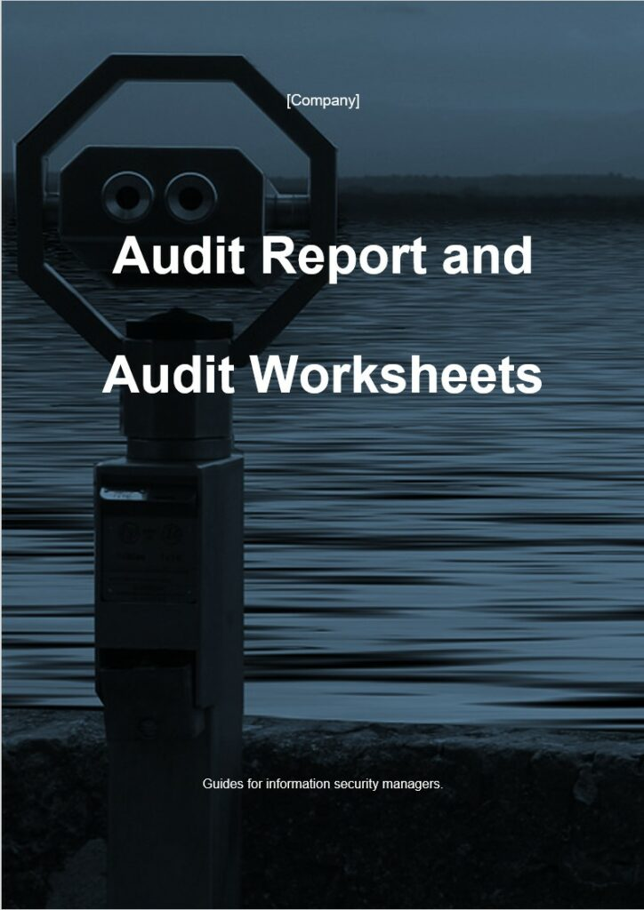 Audit Report and Audit Worksheets | ISO 27001 Documents templates