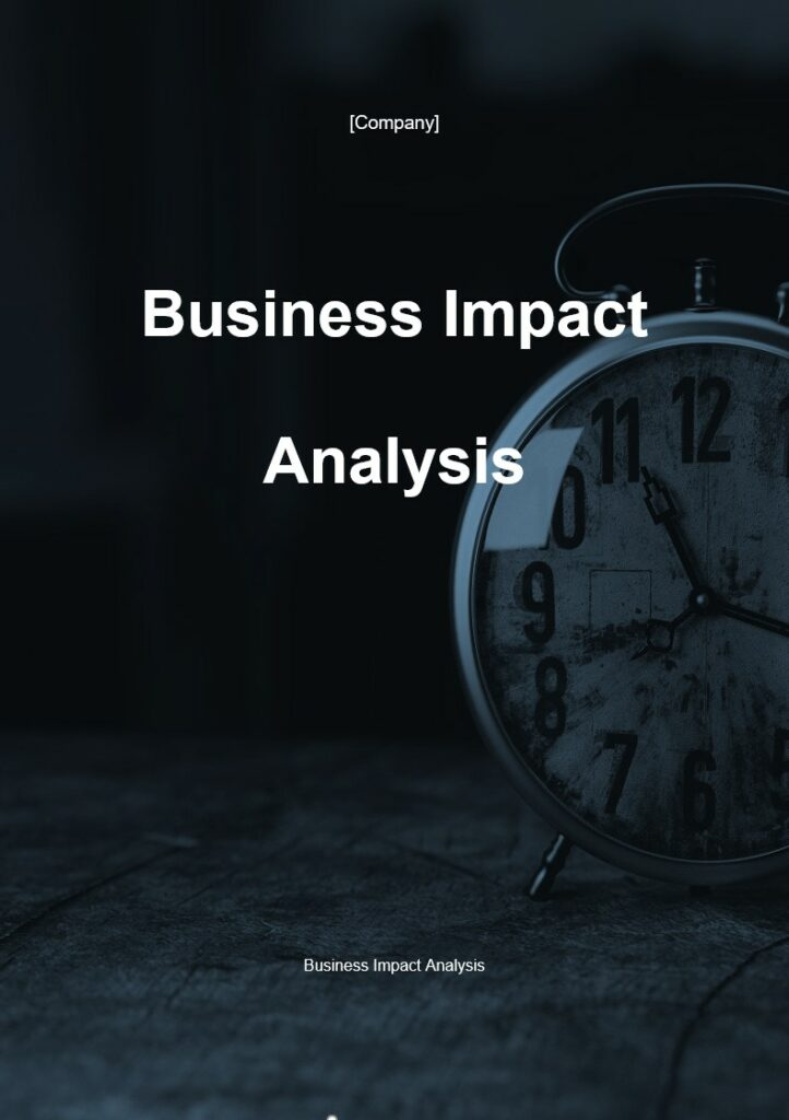 Business Impact Analysis | ISO 27001 Documents templates