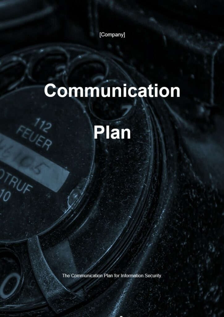 Communication Plan | ISO 27001 Documents templates