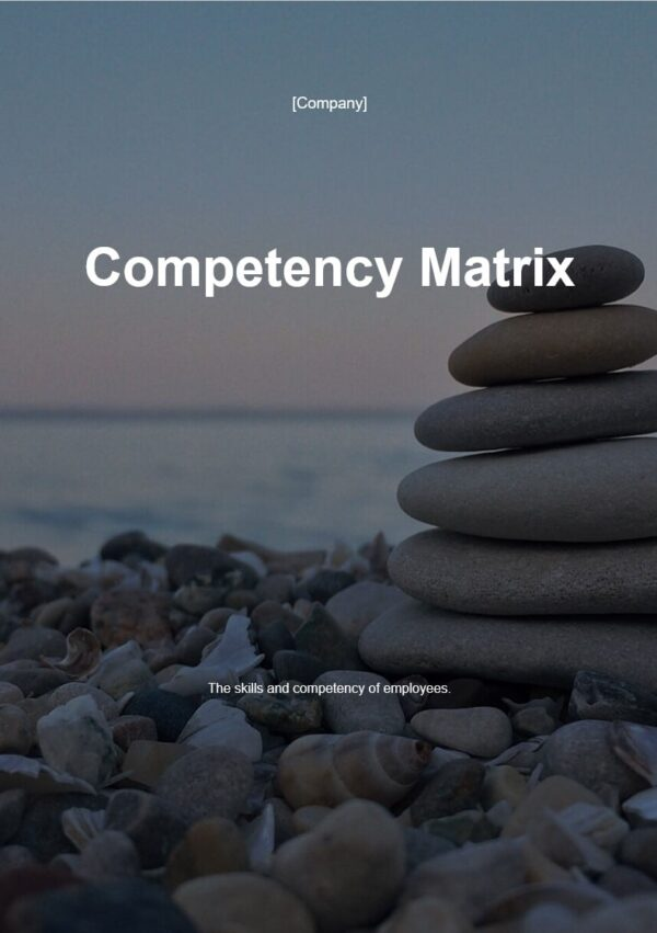 Competency Martix template for ISO 27001. An ISO 27001 template.