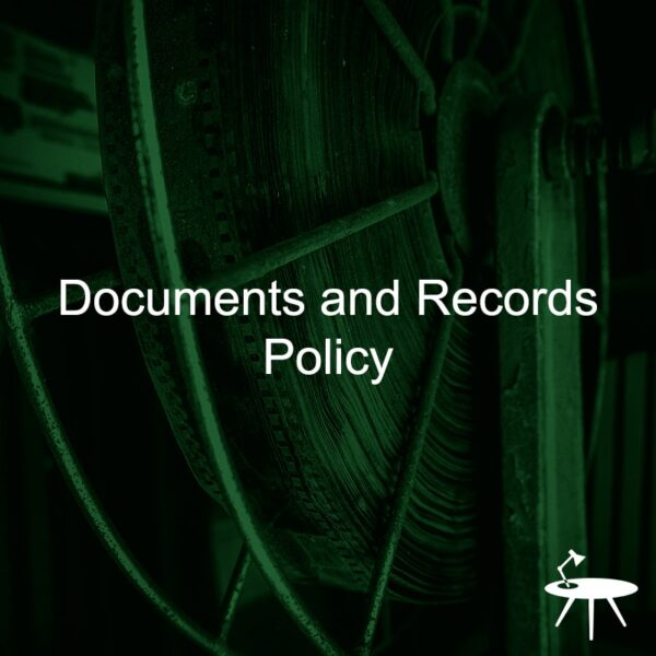Documents and Records Policy Template