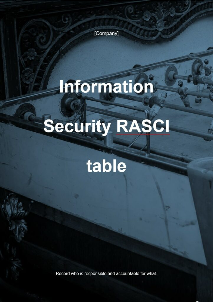 Information Security RASCI | ISO 27001 Documents templates
