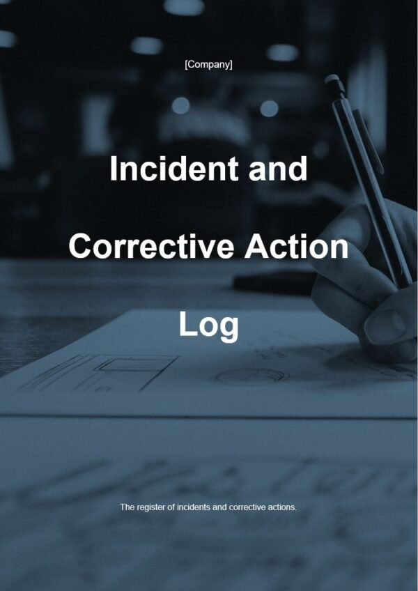 Incident and Corrective Action Log template for ISO 27001. An ISO 27001 template.