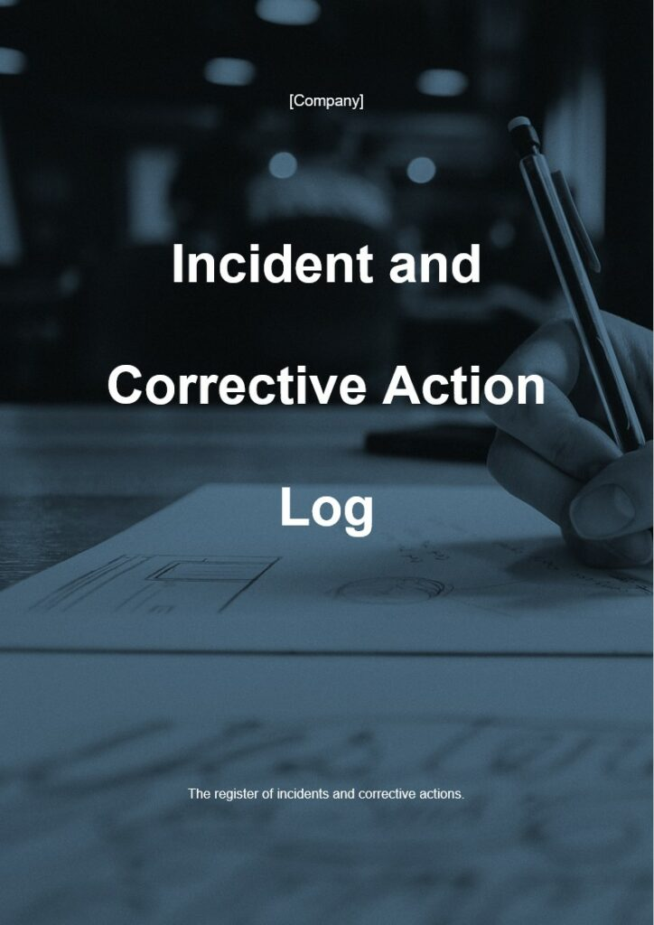 Incident and Corrective Action Log | ISO 27001 Documents templates