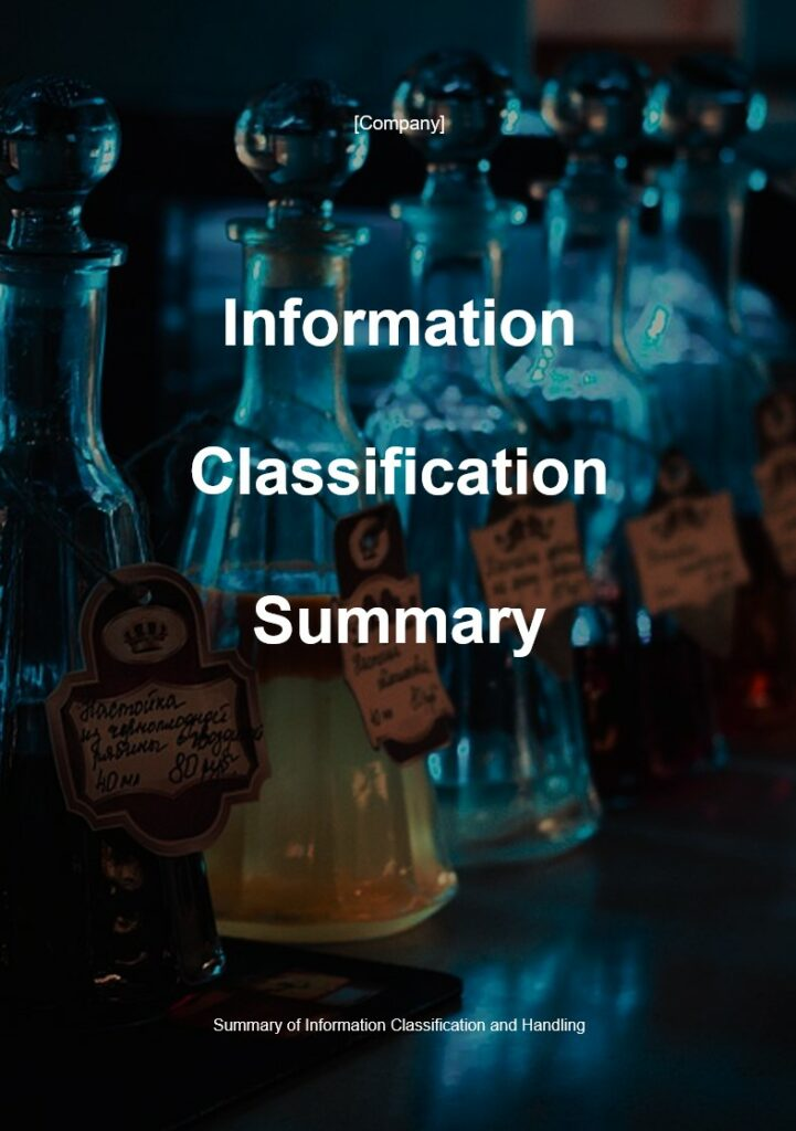 Information Classification Summary | ISO 27001 Documents templates