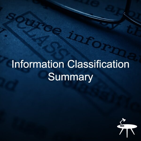 Information Classification Summary template