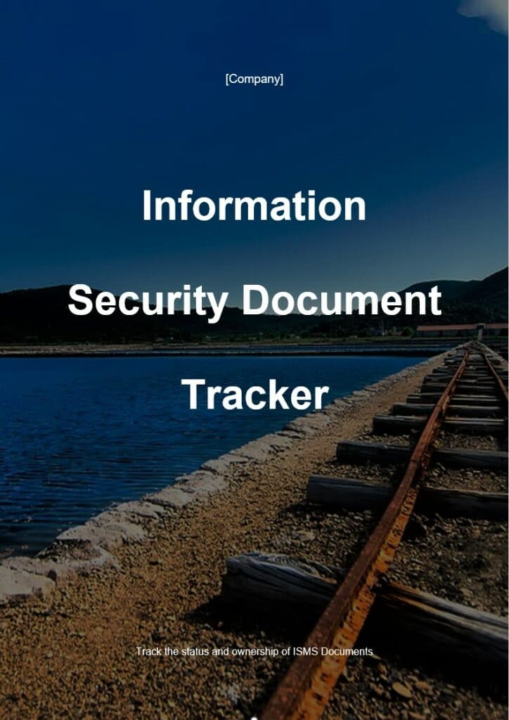 Information Security Document Tracker | ISO 27001 Documents templates