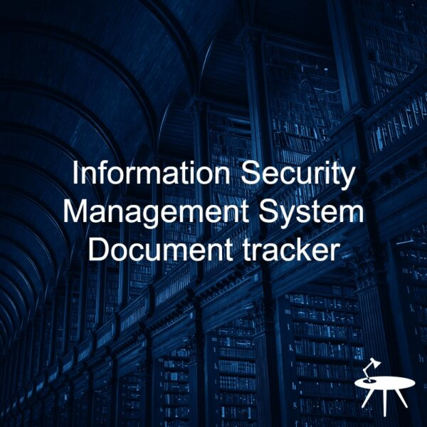 Information Security Document Tracker template for ISO 27001. An ISO 27001 template.