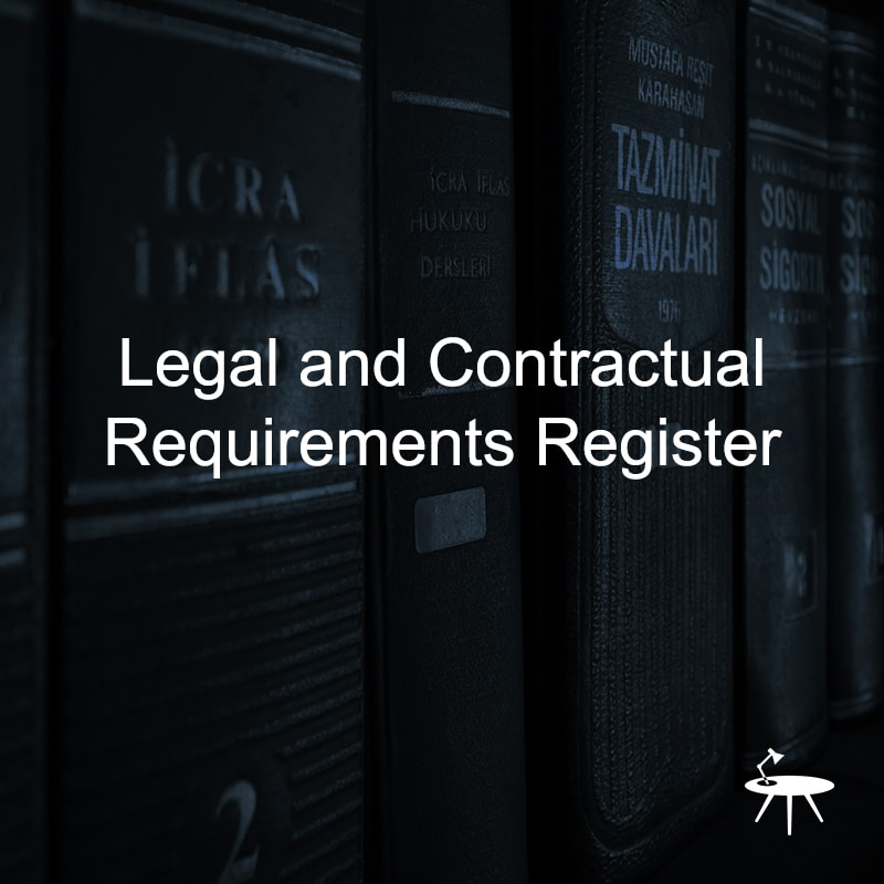 Legal and Contractual Requirements Register for ISO 27001