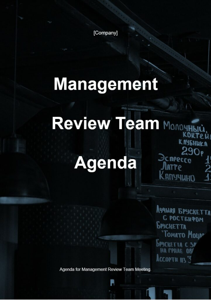 Management Review Team Agenda | ISO 27001 Documents templates
