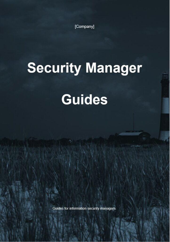 Security Management Guides | ISO 27001 Documents templates
