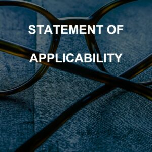 Statement of Applicability template for ISO 27001. An ISO 27001 template.