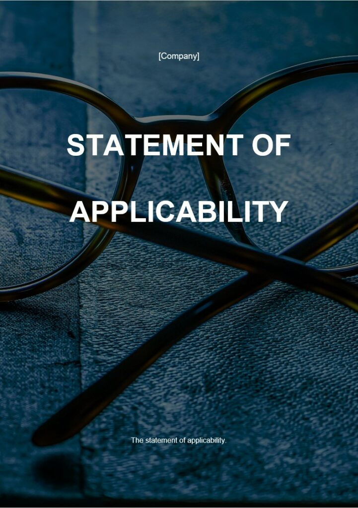 Statement of Applicability | ISO 27001 Documents templates