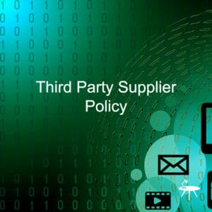 Third Party Supplier Policy Template