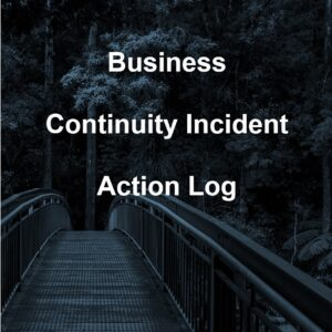 Business Continuity Incident Action Log Cover