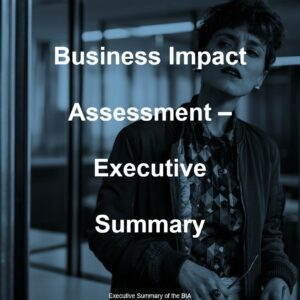 Business Impact Analysis Exec Summary Template Cover