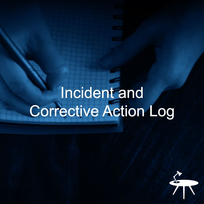 Incident and Corrective Action Log Template