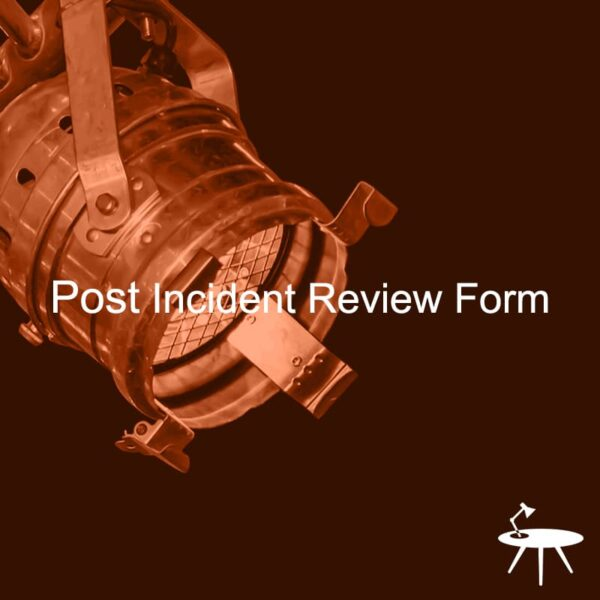 Post Incident Review Form Template Cover for ISO 27001