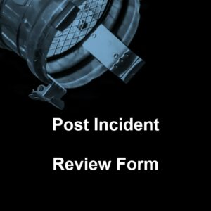 Post Incident Review Form Template Cover