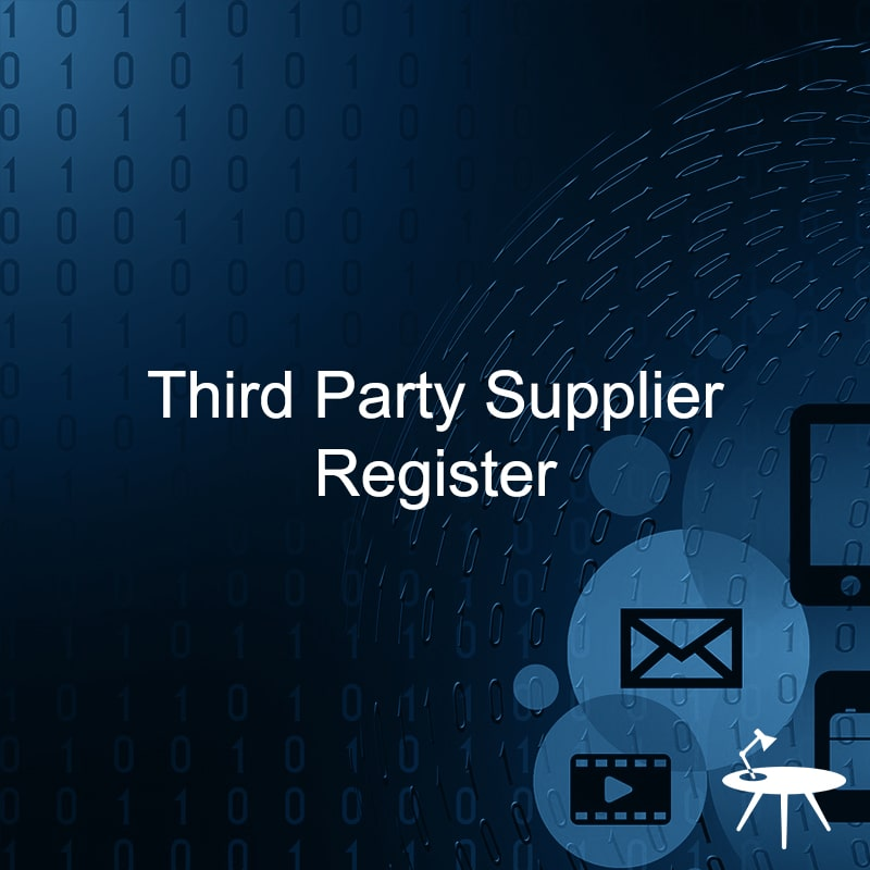 Third Party Supplier Register Template